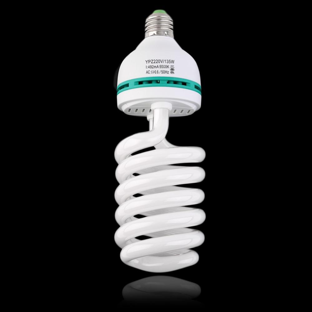 Lámpara fotográfica bombilla Led E27 220V 5500K 135W estudio de fotografía Video Leds luz de día lámpara para cámara digital Novedosas Bombillas E27, bombilla LED de 220 V, 4,5 W, 8 W, 220 V, lámpara LED E27 de alta calidad