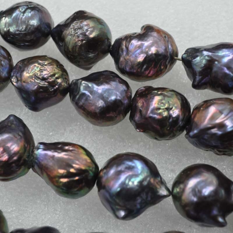 Commercio all'ingrosso 1 strand 12 16mm nero reale d'acqua dolce della perla-in Perline da Gioielli e accessori su  Gruppo 1