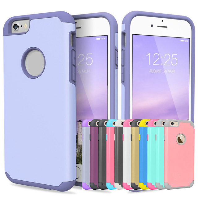 uk availability 36bc0 82b49 US $2.24 25% OFF|For iPhone 5s Soft Silicone Case Rubber Protective Cover 2  in 1 Shockproof Hard Plastic Cases For iPhone 5 SE Protection Covers-in ...