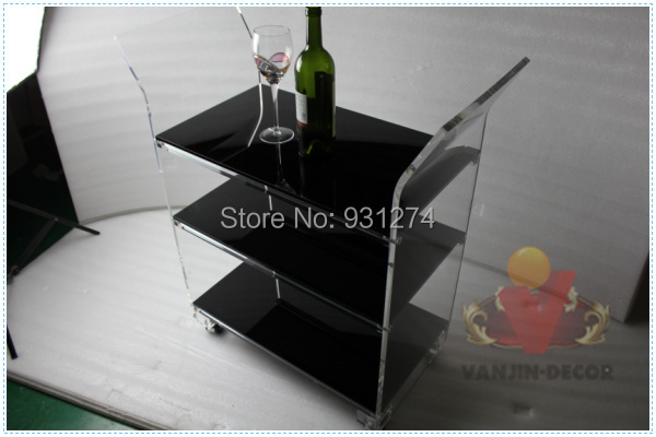 NJNE LUX KD Paketuar karrocë hoteli të ri akrilik, Lucite që - Mobilje - Foto 4