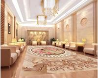 3d Wallpaper Pvc Marble Abstract Ring European Style 3D Flooring Pvc Self Adhesive Wallpaper Floor 3d