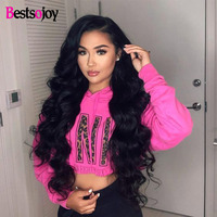 Bestsojoy Lace Front Human Hair Wigs Pre Plucked 130% 150% 180% 250% Density Brazilian Body Wave Wigs For Black Women Remy Hair