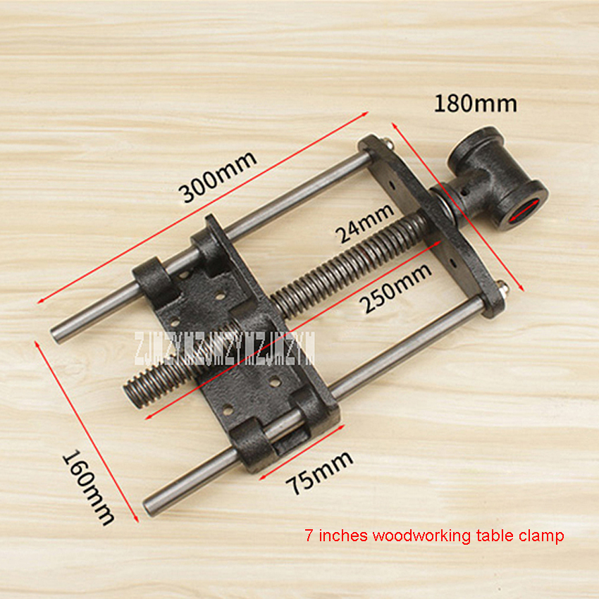 MC01044 Woodworking Table Pliers 7-inch Double Connecting Rod Woodworking Clamp DIY Fixture Lightweigh Wooden Table Pliers Clamp