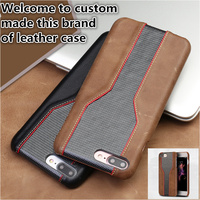 QX14 Cowhide leather half wrapped case for Huawei Honor Play phone case for Huawei Honor Play back cover case