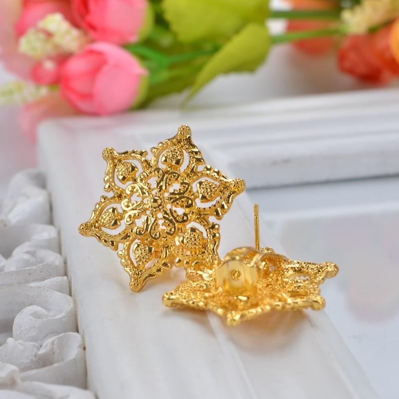 Bizhuteri me luksoze të hollë me shami Shamty Vendos Lule Ngjyrë e - Bizhuteri të modës - Foto 4