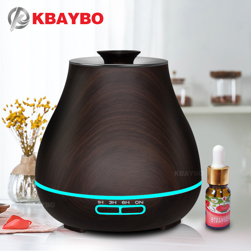 Aroma Essential Oil Diffuser Ultrasonic Air Humidifier with Wood Grain electric LED Lights aroma diffuser for home office kbaybo aroma essential oil diffuser ultrasonic air humidifier with wood grain electric led lights aroma diffuser for home