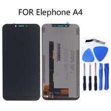 Voor Elefoon A4 originele LCD monitor touch screen digitizer onderdelen vervangen met Elefoon A4 LCD + gratis tools