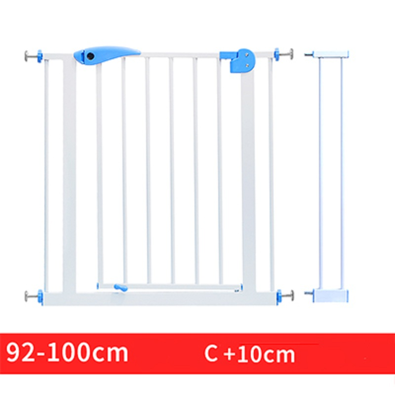 66~84cm Babysafe iron Gate Child Baby Stair Fence Pet Dog Grid Railing Isolating garden gate Height 100cm can add extend fence