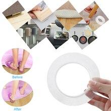 1/3/5m многоразовые двусторонняя клейкая лента Nano, Не оставляющий следов надежный дизайн, удаляемая наклейка моющиеся диск отожженной kitchenGadget