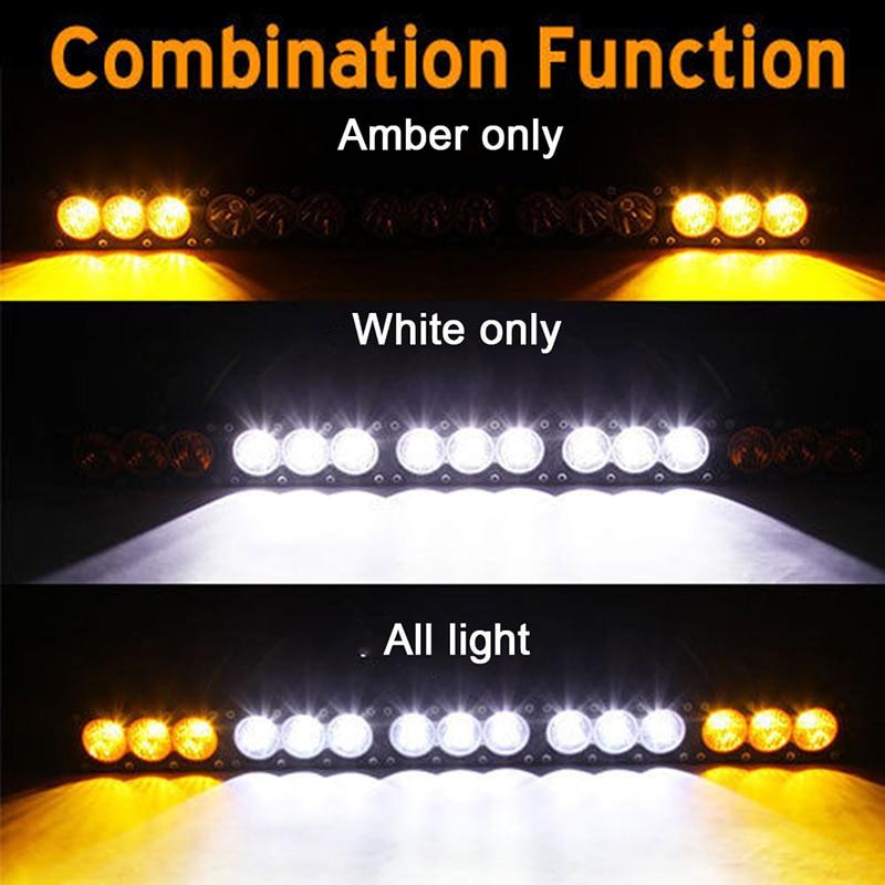 48 Inch 270w White Amber Single Row Led