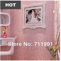 Free Shipping Non Woven Wallpaper Wallpaper Alphabetical Modern Minimalist Living Room Bedroom TV Background Wallpaper