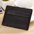 2017 New Genuine Leather Women Men ID Card Holder Card Wallet Purse Credit Card Business Card Holder Protector Organizer DC171