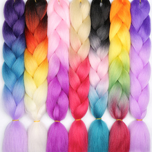 Crochet-Hair Braiding-Hair Synthetic Ombre 24inch for Women