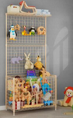 Children's toy collection rack. Living room gym equipment rack. Corner shelf of storage rack..
