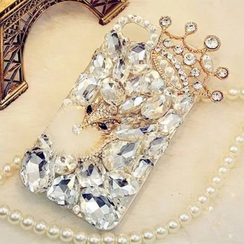 Bling Rhinestone Crystal Diamond Fox and Crown Soft Back Phone Case Cover For Huawei P9 P10 P20 P30 PLUS LiTE Mate10 20 Pro Lite