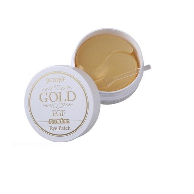 Oro PETITFEE EGF ojo oro / Racoony Hydro Gel Eye Mask parche lugar 90 unids ( ojo 60 unid y lugar de parches 30 unid ) cuidado de los ojos Spot remover