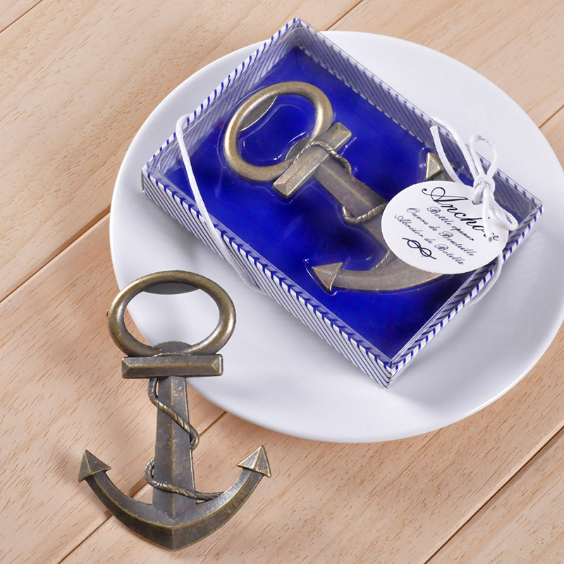 1pc Creative Bronze Anchor Shaped Bottle Opener Wedding In Return Gifts Souvenir Small Metal 2163OF