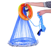 Green Fishing Net Four Generation Aluminum Ring Cast Net Iron Pendant American Fish Netting Outdoor with sinker Fly Hand Throw