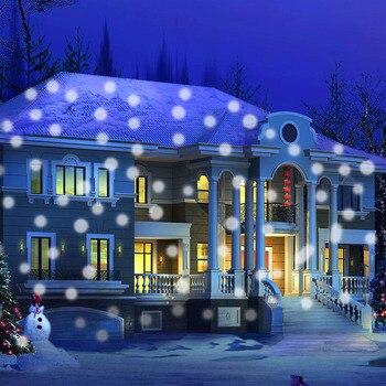 IP65 Wasserdichte Schneefall Laser Projektor Lampe Moving Schnee Im Freien Garten Landschaft Licht Hochzeit Party Weihnachten Bühne Licht