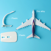 16cm Alloy Metal Air Thai A380 Airlines Aircraft Airbus 380 Airways Airplane Model Plane Model W Stand Gift