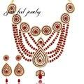 Gota de Agua de lujo Colgantes de Los Collares de Cristal Austriaco Ronda CZ Collar de Conjuntos De Joyas De Diseño Maxi para Las Mujeres Bodas Bridal