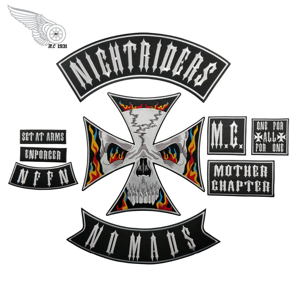REAPERMAGIC 1/% MC Large Embroidered Full Back Biker Patch Backing Patches
