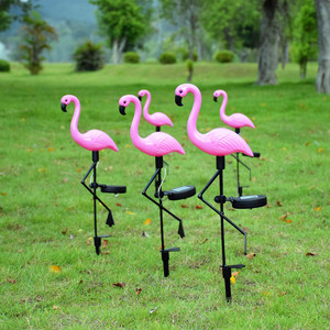 Image 4 - Luz Solar de jardín Flamingo, iluminación de decoración de patio, impermeable, lámpara LED para jardín alimentada por energía Solar con carga automática