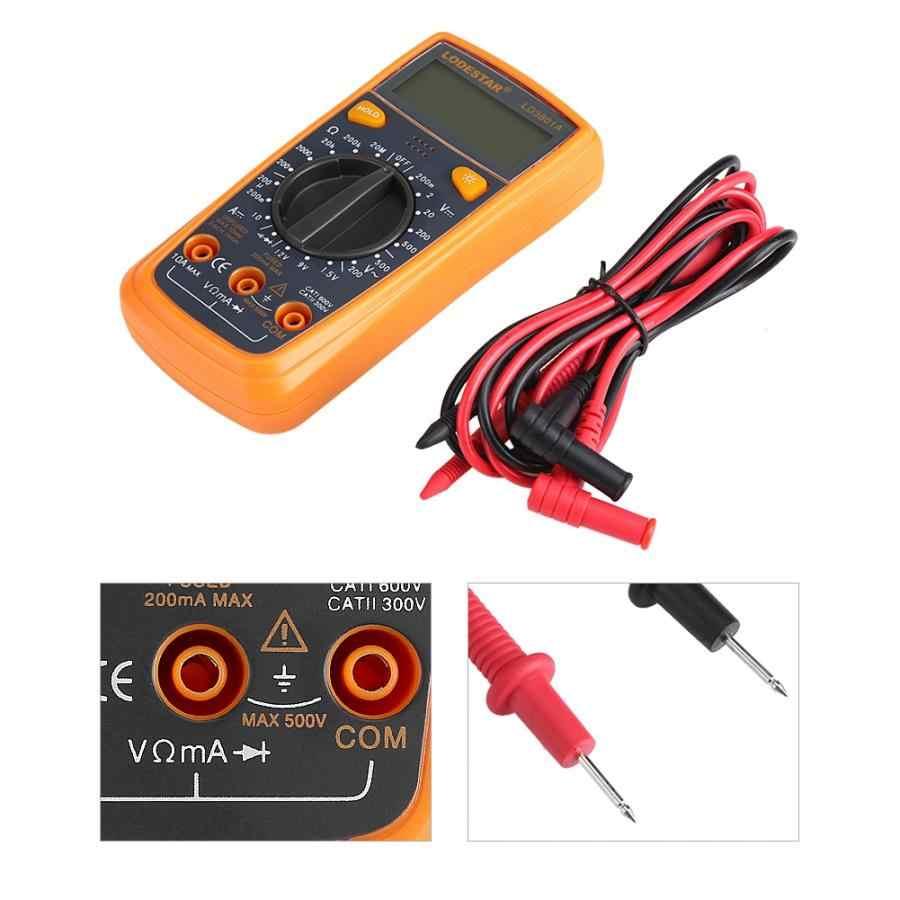 Sondy LD3801A multimetr cyfrowy napięcia prądu odporność pojemności Tester amperomierz Auto zakres 11 wyprzedaż