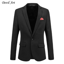 Men's Dress Blazer Fashion Business Suit Jackets Red Patch Decoration Blazer Slim Veste Homme Mariage  Plus Size:6XL 516