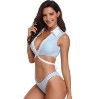 ZHUOHE 2019 Bikini Set 3 Pieces Low Waist Adjustable Back Ties Swimsuit Bathing Suits Swimwear Beach Wear Biquini for Women Lady
