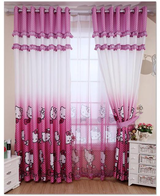 Real Blackout Curtains Home Decoration Curtain Hello Kitty Children S Bedroom Blind Child For Free