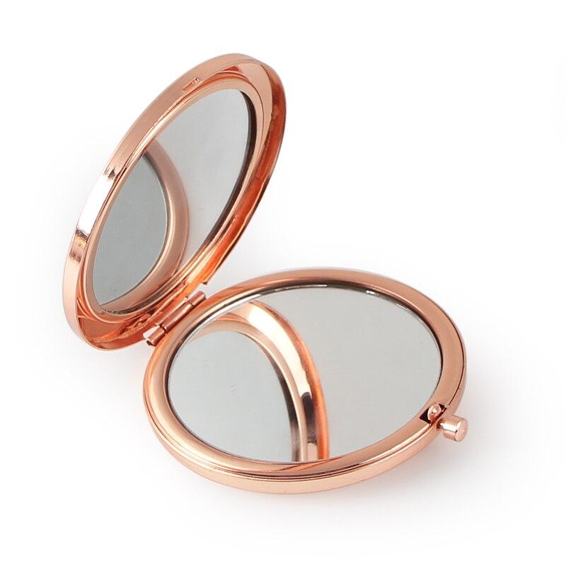 Круглое зеркало компактный пустой плотная цвета розового золота Цвет для DIY подарок зеркало #18413-4