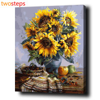 TwoSteps DIY Digital Canvas Oil Painting By Numbers Pictures Coloring By Numbers Acrylic Paint By Number