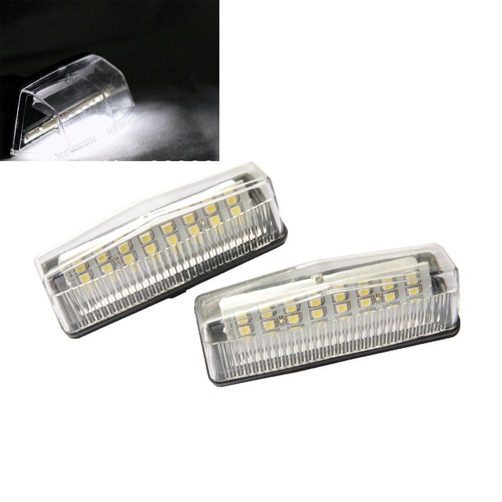 1 пара Белый 24smd кри номерной знак свет лампы для Тойота ПРИУС ZVW30/NHW20 ВЕНЗА LEXUSCT200H лицензия canbus светодиодная Лампа