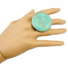 Богемное тибетское серебряное металлическое кольцо на палец для мужчин с голубым камнем женское кольцо бирюза винтажное регулируемое турецкое панк цыганские украшения