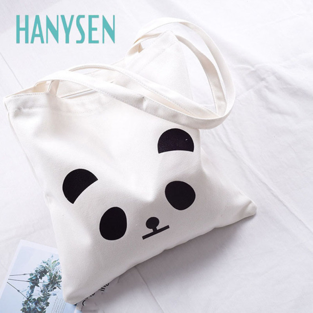 Attrayant HANYSEN 2017 Hot Sale Summer Cartoon Panda Animal Pattern Printing Canvas  Zipper Handbags Cute Art Model
