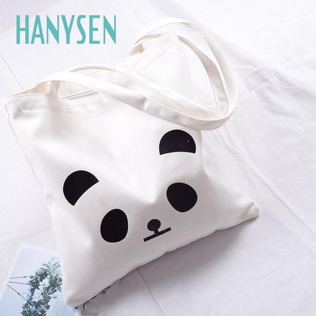 Attrayant HANYSEN 2017 Hot Sale Summer Cartoon Panda Animal Pattern Printing Canvas  Zipper Handbags Cute Art Model
