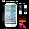 Screen Protector Tempered Glass 0.3mm 2.5D 9H  Film For Alcatel One Touch Pop C7 7040D 7041D Protective Films free shipping