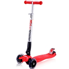 Good quality free shipping fashional Foldable and Telescopic rod mini kid scooter with 3 wheel CE certificate children scooter