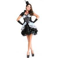 Umorden Halloween Vampire Vampiress Costume Queen of Darkness Costumes for Women Adult Adulto Fantasia Short Black Tutu Dress