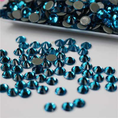 3D Pfau blau Ss3-ss34 Flache Rückseite Nail art Kristall Dekorationen Kleber auf Strass für Nägel Stein diy shose und telefon shell