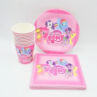 40pc Set My Little Pony Theme Cup Plate Napkin Party Supplies For Boys Event Party Decorations