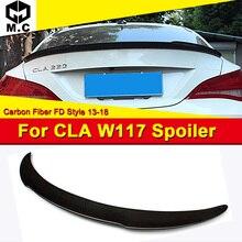 For Mercedes CLA Class W117 4-Door FD Style Carbon Fiber Trunk spoiler wing CLA180 CLA200 CLA250 CLA45 Look Rear wings 2013-2018 недорого