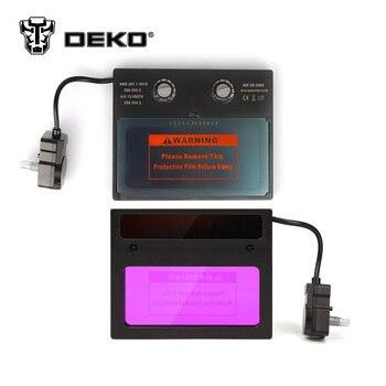 Masque De Soudage à Assombrissement Automatique à énergie Solaire DEKO Gamme D'ombre Réglable 4/9-13 Pour Casque De Soudeur à L'arc MIG TIG