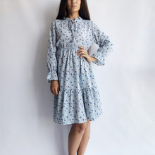 7f6f23aa32c Шифоновое платье с цветочным принтом и высокой эластичной резинкой на  талии