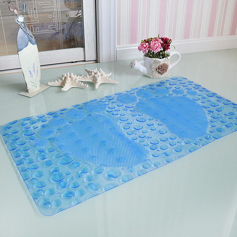 New wallpaper Non slip bath mat Massage With sucker PVC shower mat for bathroom toilet bathroom carpet rug bathroom accessories