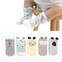 5 Pair Baby Girl Boy Kids Warm Cute Cartoon Printed Soft Cotton Leg Warmers Cartoon Cotton Leg Warmer(China)