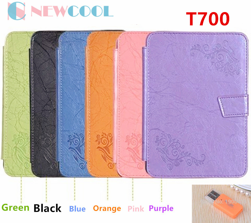 NEWCOOL Flip Cover Case For Samsung Galaxy Tab S 8.4 T700 T705 Tablet PC Luxury Floral Printed Leather Case Smart Cover