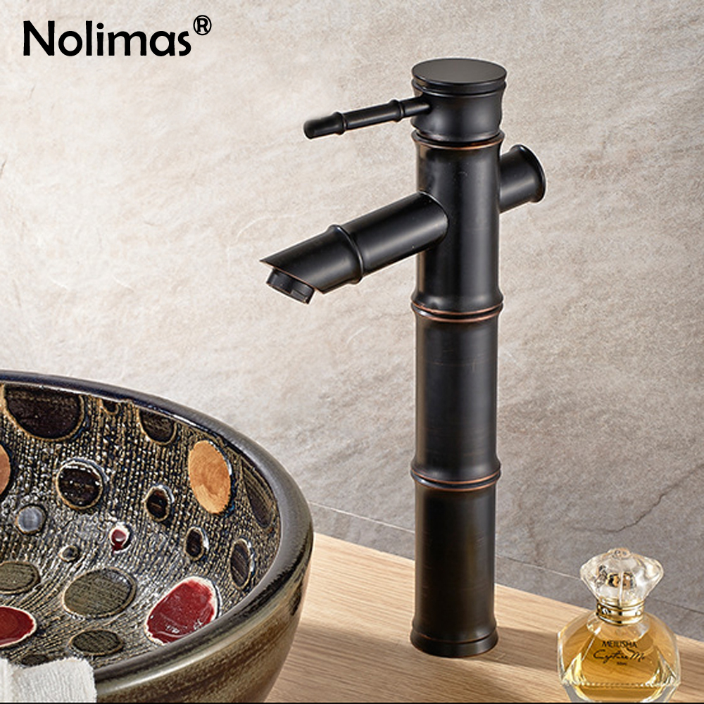 Online Shop Brass Bamboo Basin Faucet Design Retro Bathroom Faucet ...