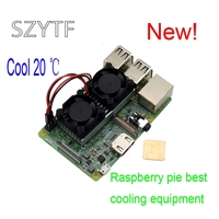 New Pi Heatsink Kit Cooler With Dual Fan Double Cooling Fans Reduce Up To 20 Degrees